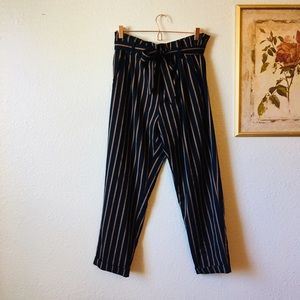 Zara striped trousers